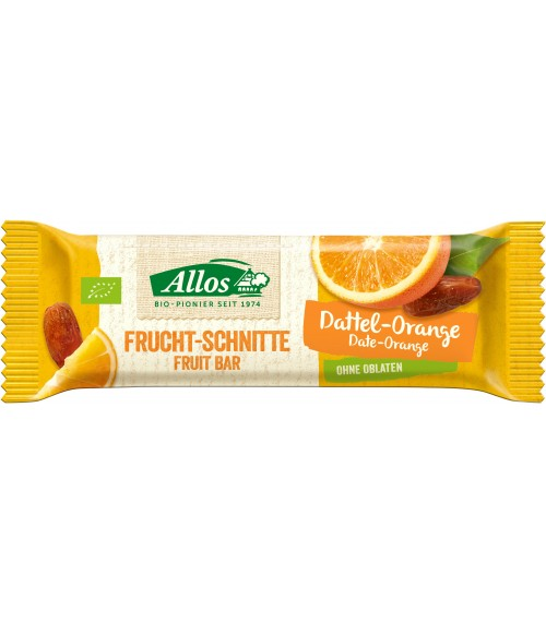Allos Fruchtschnitte Dattel Orange 30g Bio