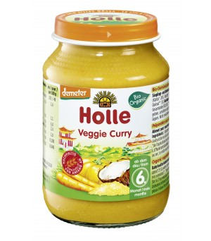 Holle Veggie Curry Glas 190g Demeter