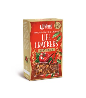 Lifefood Life Crackers Tomate Chili 90g Bio gf vegan