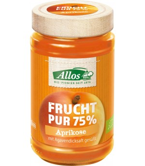 Allos Frucht Pur 75% Aprikose m. Agave 250g Bio