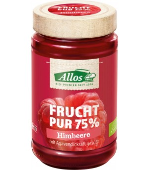 Allos Frucht Pur 75% Himbeere m. Agave 250g Bio