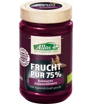 Allos Frucht Pur 75% Cassis m. Agave 250g Bio