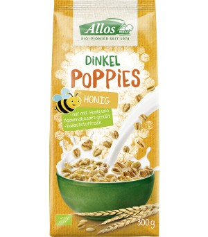 Allos Dinkel Honig Poppies 300g Bio