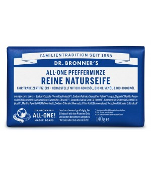 Dr.Bronners Bar Soaps Peppermint 140g