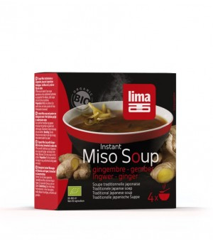 Lima Miso Instant Ingwer Suppe 4x15g Bio