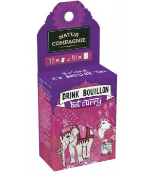 Compagnie Drink Bouillon hot curry 10x5g Bio
