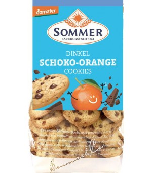 Sommer Dinkel Schoko Orange Cookies 150g Demeter vegan