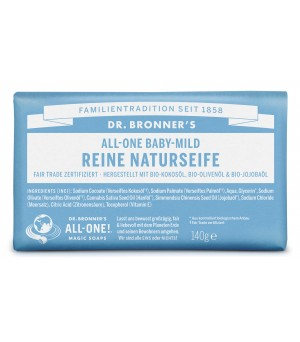 Dr.Bronners Bar Soaps Baby Mild 140g