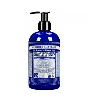 Dr. Bronner s Shikakai Soap Spearmint Peppermint | 355 ml