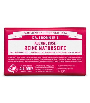 Dr. Bronner's Bar Soaps Rose 140g