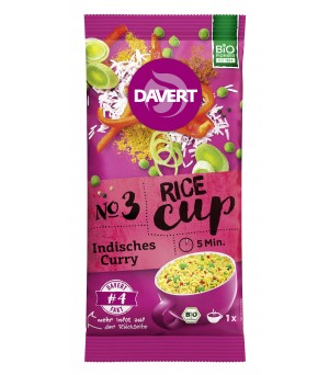 Davert Rice-Cup Indisches Curry 67g Bio vegan
